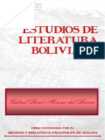Moreno Gabriel Rene - Estudios de Literatura Boliviana