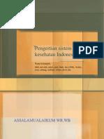 Pengertian Sistem Hukum Kesehatan Indonesia