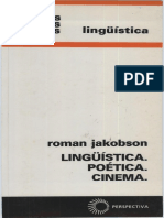JAKOBSON, R. Linguística, Poética, Cinema