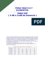 Antena Yagi 5 0 7 Elementos