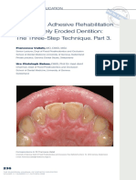 3. Full-Mouth Adhesive Rehabilitation of a Severely Eroded Dentition- the Three-Step Technique. Part 3.