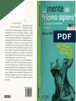 Martín-Loeches Manuel. La Mente Del Homo Sapiens. El Cerebro y La Evolución Humana.