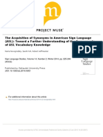 the Acquisition of Synonyms in American Sign Language (ASL)  - NOVOGRODSKY