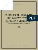 ENGINEER ALI MIRZA AND HIS SYMPATHY WITH QADIANIS AND NASIRITIES