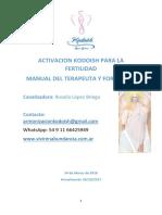 Activacion Kodoish Para La Fertilidad Manual