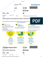 Cebu Pacific - Tau Ticket