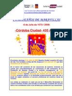 Cumpleaños de Córdoba Ciudad- 435 Años- Actividades Programadas para el (6/07/08)