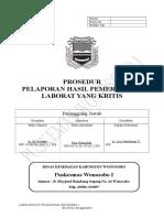 8.1.4 a SPO Pelaporan Hasil Pemeriksaan Lab Yang Kritis.