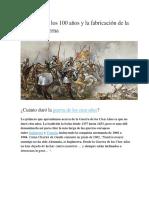 La Guerra de Los 100 Años y La Fabricación de La Europa Moderna