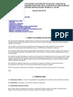 Ghid Privind Utilizarea Chiturilor Tiocolice,Acrilice Si Siliconice La Etansarea Rosturilor in Constructii Ge047-2002