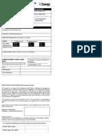 Concessionary Card Form