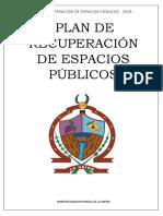 Plan de Recuperación de Espacios Públicos Union