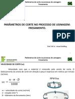 11 - Parametros de Corte No Processo de Usinagem Fresamento