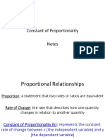 constant of proportionality notes
