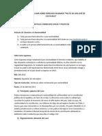 Convención Americana Sobre Derechos Humanos, Fallo y Decreto 5142