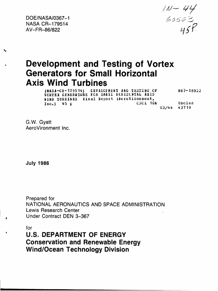 Development and Testing of Vortex Generators | Airfoil | Lift (Force)