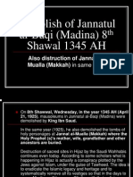 Demolish of Jannatul Al-Baqi (Madina) 8th