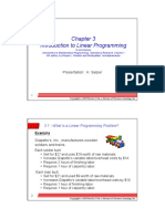 Linear Programming Introduction