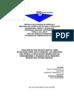 Creacion de Una Revista Digital Como Estrategia Para Dar a Conocer Los Servicios Que Ofrece La Asociacion Venezolana de Consumidores y Usuarios en El Municipio Girardot Del Estado Aragua.