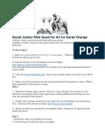social justice web quest art for social change