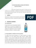 Uso de Agua Destilada Para El Riego de Rábano