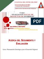 Modulo II Seguimiento y Evaluación