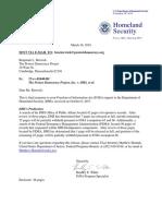 Response from DHS Regarding FEMA Data