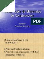 Clasificacion de Los Materiales de Construccion
