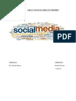 Impact of Social Media on Children