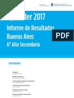 Informe Buenos Aires Secundaria 2017