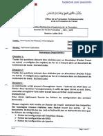 Examen de Fin de Formation 2015 Pratique Variante 9 Tri