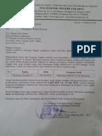 Surat Pengantar Politeknik Negeri Jakarta