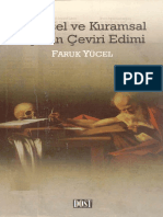 Faruk Yücel - Tarihsel Ve Kuramsal Açıdan Çeviri Edimi
