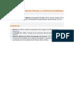 Bibliografía Derecho Privado IV Contrato de Empresa