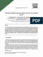 Estabilidade Termica e Atividad Pozolanica de Argilas Calcinadas