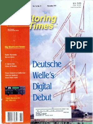 Monitoring Times 1997 11   Radio   Television