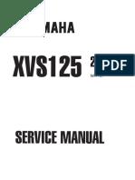Yamaha XVS 125 00 Service Manual
