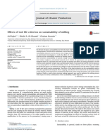 1. Effects of Tool Life Criterion on Sustainability of Milling