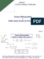 Aula 4 de Introdução à Física Atômica e Molecular - Átomo hidrogenoide