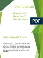 Complaint Letter.pptx