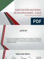 CLASIFICACIÓN NACIONAL DE OCUPACIONES - C