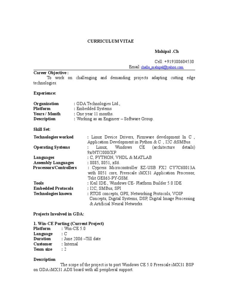 Mahi Pal | Device Driver | Embedded System