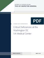 Critical Deficiencies at the Washington DC VA Medical Center