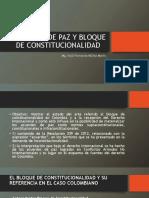 Acuerdos de Paz y Bloque de Constitucionalidad