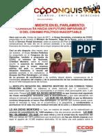 2387403-Comunicado CCOO Montoro Sobre Correos en El Congreso de Los Diputados 21-03-2018