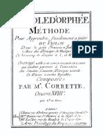 Corrette L'École d'Orphée, Op.18 (1738)
