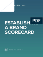 Establishing a Brand Scorecard