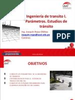 CAM. Ingeniería de Tránsito I. Parámetros. Estudios de Tránsito