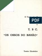 Os Ossos Do Barão - Folheto TBC