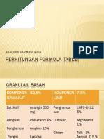 Perhitungan Formula Tablet